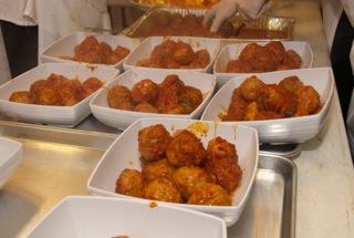 platters of meatballs